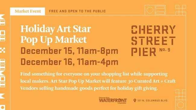 Holiday Art Star Pop Up Market At Cherry Street Pier Kids Out And